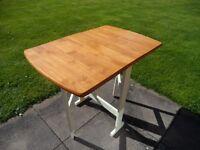 Folding Pine Kitchen Table