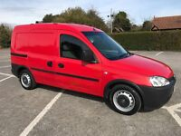 VAUXHALL COMBO VAN 1.7 DTI CREW REAR SEATS LOW MILES RED BIGGER THAN ASTRAVAN CLUB CDTI ECO LS ENVOY