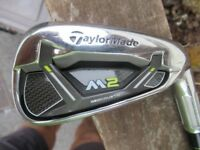 taylormade M2 7 iron ,2017 club , regular graphite shaft