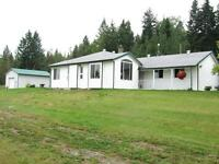 Very private 40 acre hobby farm. Twenty min south of quesnel.
