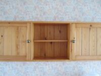 hamlet pine wall cupboard cabinet kitchen