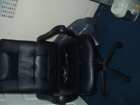 OFFICE SWIVEL LEATHER CHAIR - FREE TO PICK UP
