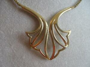 GORGEOUS OLD VINTAGE 17-INCH GOLDTONE PENDANT NECKLACE