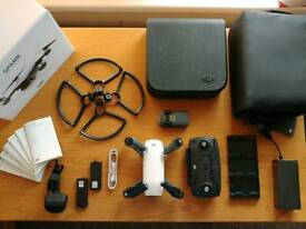 DJI Spark Combo DRONE in White + 4 Batteries + 8 ND Filters + DJI Care