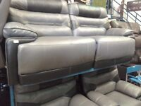 Ex display. Black/half grey. 3 seater. 2seater. Recliners. Leather