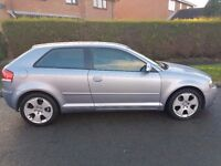 2005 AUDI A3 1.9 TDI SPORTS 82K WITH FULL SERVICE HISTORY EXCELLENT CONDITION CAT-C