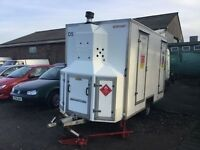 LOOK STORAGE decontamination units with walk in showers and changing rooms either side fully loaded