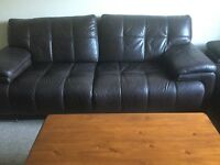 3 Seater Leather SCS sofa branded
