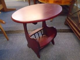 small occasional table with magazine rack