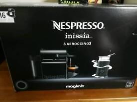 Nespresso Inissia and Aeroccino 3 coffee machine by Magimix