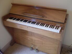 Consolette Piano, small upright Piano complete with stool