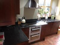 Complete kitchen with granite worktops and Smeg appliances