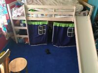 Kids mid sleeper bed with slide