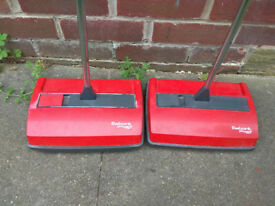 2 X Ewbank DeepSweep Light Weight Manual Carpet Cleaner Sweeper Red