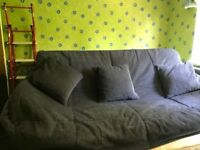 Double Sofa Bed on steel metal frame for sale. Comfortable Mattress