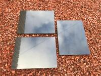 3 Polished Black Granite Boards - Unused