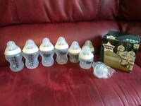 Tommee Tippee Closer to Nature bottles. Different sizes + teats