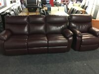 NEW/EX DISPLAY LEATHER LazyBoy OKNEY 3 + 1 SEATER RECLINER SOFAS, SUITE, SETTES 70% Off RRP