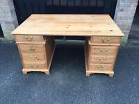 Solid pine desk dressing table