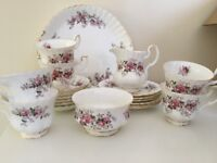 Royal Albert Bone China Lavender Rose Tea Set