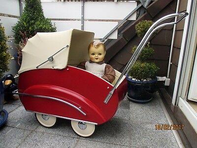 """Traumschöner alter Puppenwagen 50er Jahre von """"HELVETIA"""" Schweiz, Kinderwagen"""