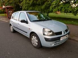 2002 Renault Clio 1.5 Diesel 5 door £30 per year tax