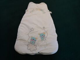 Baby GroBag/sleeping bag in White by The Dream Bag - Tog 3.5, Age 0-6 mnth