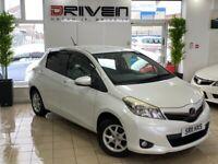 2011 Toyota Vitz/ Yaris 1.3 VVTI 5 door Automatic pearl white only 69k miles