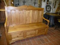 monks bench storage settle