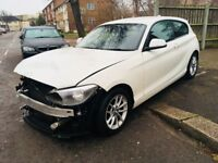 2013 BMW 116D 80+MPG Efficient Dynamics Sports Salvage Damaged Repairable 1 series 3 series