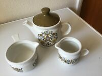 Teapot, milk jug and bowl