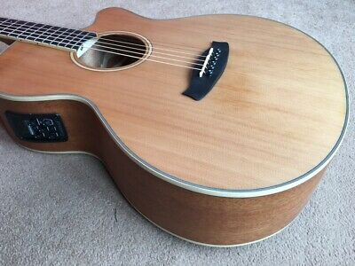 SOLID CEDAR TOPPED FOLK SIZE ELECTRO ACOUSTIC CUTAWAY GUITAR GREAT SOUND RP £349