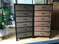 ONLY ONE LEFT!!! - Industrial Chest of Drawers/6 drawer Units