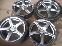"2 sets of 18"" alloy wheels"