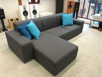 Large Contemporary Charcoal Grey Corner Sofa (L shaped). Cost over £1300 new!