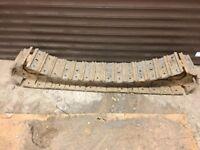 mini digger steel tracks