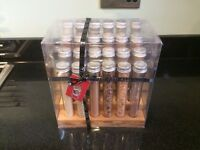 NEXT - Test Tube Wooden Spice & Herb RACK Bamboo Wood with 24 Everyday Indian Italian Chinese SPICES