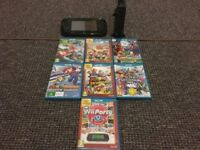 Amazing Condition Nintendo Wii U 32GB with 7 Games
