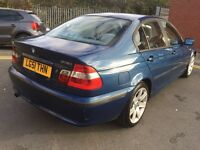 Bmw 3 series in blue nice family car run and drive perfect in perfect condition