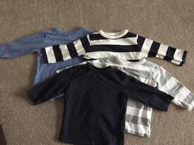 Next x4 long sleeved tops (9-12 months)