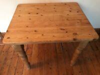 Wooden (pine) kitchen table