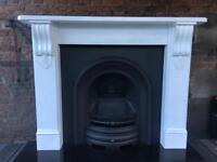 Delivery most uk cast iron arch and surround complete fireplace