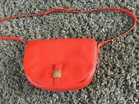 Mulberry red soft leather bag
