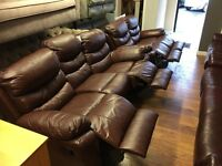 leather recliner 3 seater and 2 seater only £799