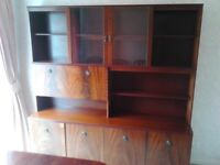 MAHOGANY FINISH LARGE DISPLAY UNIT