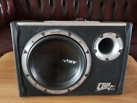 CAR ACTIVE SUBWOOFER VIBE CBR10 1300 WATT 10 INCH PORTED BASS BOX WITH MONOBLOCK AMPLIFIER SUB AMP