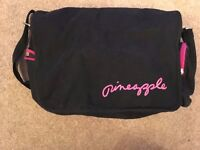 Pineapple Dance/Gym Bag, good condition, black and pink