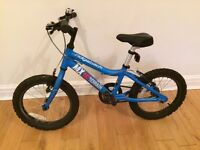 Kids' Ridgeback MX16 Bike Blue - 16in wheel (4-6 years ish). Good condition. Collection Only