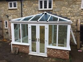Conservatory, top quality, blue tint self cleaning glass roof ,excellent