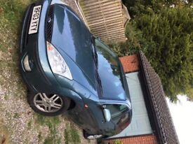 Green Ford Focus Zetec, Automatic, 03, M.O.T 11months